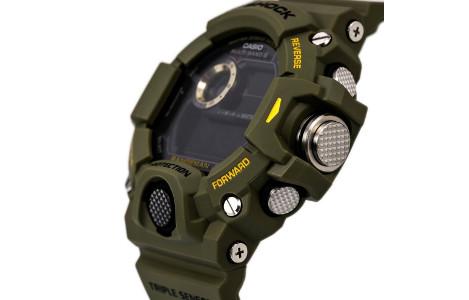 Render z bliska cyfrowego zegarka Casio GW-9400-3