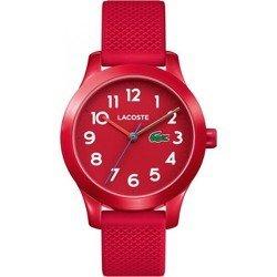 Czerwony damski zegarek