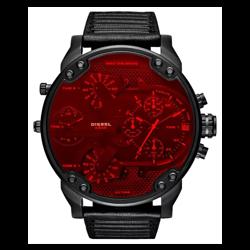 Czerwony zegarek męski